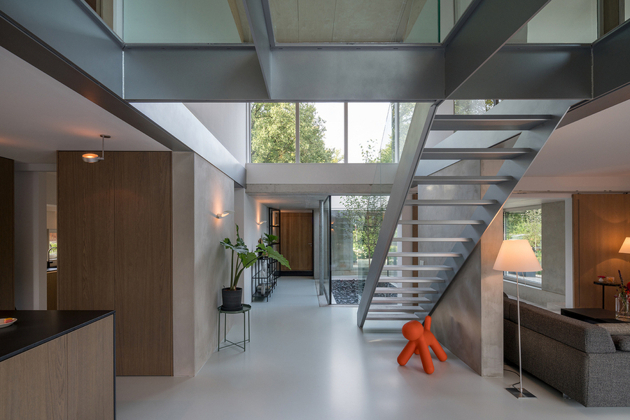 Niveauverschil In Huis : Patio house bloot architecture bouwboek